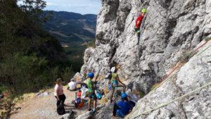 Soggiorno Monghidoro (BO) Attività d'arrampicata sportiva presso la falesia del Rocchino di Cavrenno (BO)